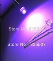 200PCS/LOT 5MM straw hat LED lamp beads violet purple hair long legs F5 long legs 26-28mm