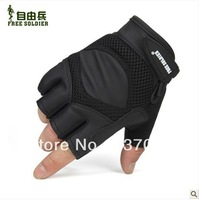 Bland Free Soldier  Men's tactical gloves outdoor sport Half refers to protective gloves Cycling anti-skid gloves Free shipping