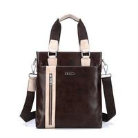 New 2014 Shoulder Bags Men Leather Briefcase Practical Messenger Bags Waterproof  Bolsa Vintage Bags for Male Designer Brands