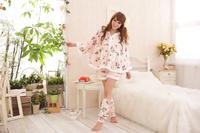 Women's lounge set Pajama Sets Flowers sleepwear nightgown