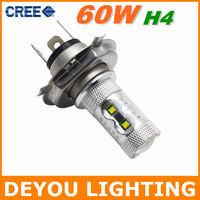 Genuine CREE XBD 60W H4 LED Fog Light high / low beam 12V 24V car DRL light lamp bulb car lighting  1year warranty