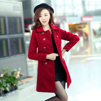 Free shipping women coats winter fashion 2013 sweet slim wool womens coats woolen outerwear winter jackets for women