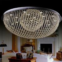 "D50cm/19.7""Fashion cognac color crystal absorb dome light piecewise Remote control"