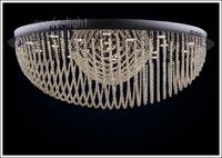 "D80cm/31.5""Fashion cognac color crystal absorb dome light piecewise Remote control"