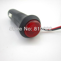 Free shipping Motorcycle cigarette lighter 12 v24v cigarette lighter car take wire with the switch