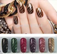 Nail art 3D magnetic nail Lacquer polish nail varnish free shipping nail tools set UV GEL magnective gel Candy Color NO 49 - 60