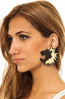 Angry Lion Fashion African Wild Fashion Acrylic Stud Earrings