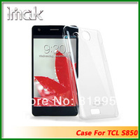 Free shipping New Genuine Brand IMAK Crystal series PC Ultra-thin Hard Skin Case Cover Back For TCL S850,10PCS/LOT