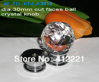 Free Shipping Mixed Crystal Ball Cut Faces Pull Handle Knob In Silver for Furniture Drawer Cabinet Cupboard Wardrobe Dresser