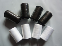 Free Shipping White/Black Terylene Sewing Machine Thread,40S/2,1000 Yards,2 Pcs/ Lot, Special Price for Promotional activity