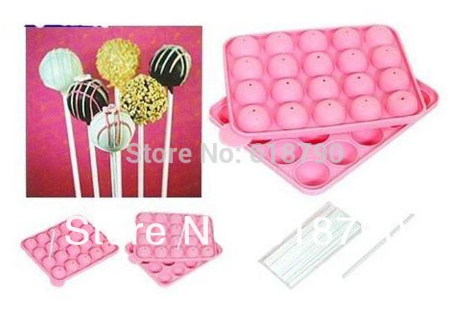Chocolate lollipops 20 hole lollipop silicone cake mold baking tool Free shipping(China (Mainland))
