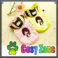 DGS015 Warm Dog Jacket Pink Yellow Teddy Clothing Cotton Dog Hoodies Suit Winter Dog Coat Wholesale Dog Products