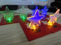 10pcs/lot Creative Colorful Star Christmas Card Lamp Novelty Mini Pocket LED Credit Card Light Christmas Gift Decoration