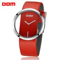 ladies watch women wristwatches  Dom        leather  dive   casual quartz    dress watches relogio feminino reloj mujer montre