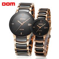 women's watch clock women dress watches Dom rose gold relogio masculino brand luxury watches men quartz couple watch