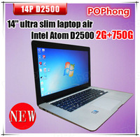 Dual Core Intel Atom D2500 1.86GHz Ultra Laptop Computer 14 inch 2G 750G Windows 7
