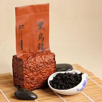 New arrival oil black oolong tea prothallial black tea luzhou-flavor Warm stomach Black oolong tea slimming tea 125g*4 bagas