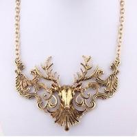 Min order is $10(mix order)Fashion vintage fashion elk deer false collar necklace Buck necklaces for women