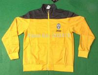 New 14 15 Juventus soccer training jacket Juventus yellow football coat brand winter sports coat men's winter outer coat hoddies