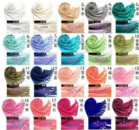 Free shipping Fashion Women's Pashmina Tassel Scarf Wrap Shawl scarves 40 Colors W4330