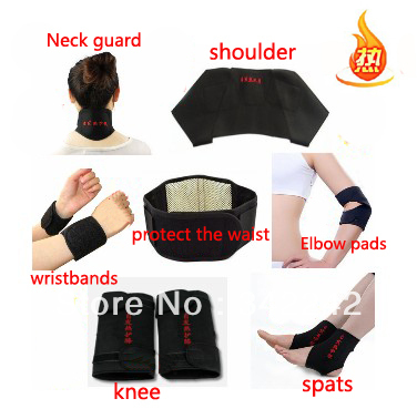 Tourmaline self-heating waist,support belt kneepad, neck wrist support shoulder pad ankle support elbow 11 magnetic therapy set(China (Mainland))