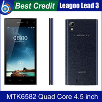 "Free shipping!Original Leagoo Lead 3 MTK6582 Quad Core 4.5""Capacitive Screen 512MB RAM 4GB ROM 5.0MP Moblie Phone 3G WCDMA/Kate"