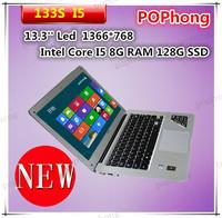 8000mah battery metal mini pc 13.3 inch Intel Core i5 Processor 64GB SSD windows 8