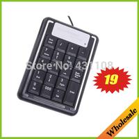 Drop/Free shipping wholesale 19 Keys Mini USB Numeric Number Keyboard Keypad with mini pc keyboard for Laptap& ipad accessories