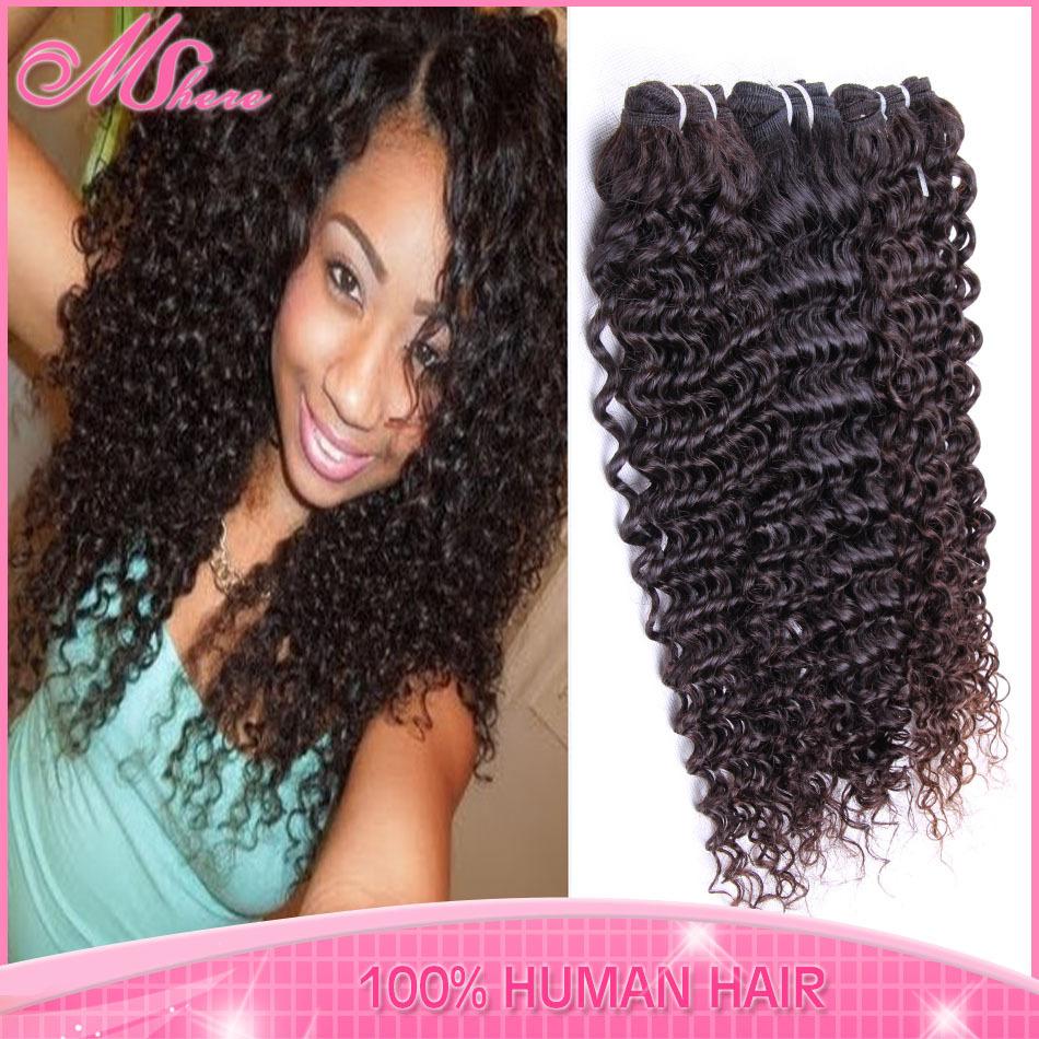 Rosa Hair Product Brazilian Virgin Hair Extension Kinky Curly 4pcs lot