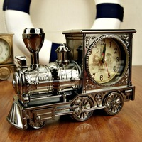 Antique clock upscale British classic retro locomotive locomotive shape birthday gift Free Shipping