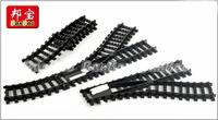 Banbao Building Blocks Hot Toy Rail Train Tracks Black Color Sets 6pcs Construction Educational Bricks Toy for Children Gift