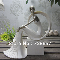 Graceful Fashion Resin Girl Character Sculpture Ornamental handicraft Furnishing for Home Decoration, Gifting and Collection etc