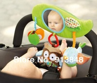Free Shipping,2013 new Zoo Stroller Bar Activity Toy,baby seat/bed hanging toy with magic mirror