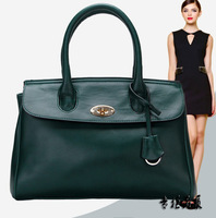 2013 autumn and winter women's OL genuine leather handbag shoulder cross-body bag quality popular tote LB0004
