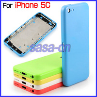 For iphone 5C Color Back Housing Cover for iPhone 5C Battery Door Housing With Side Buttons Repair Parts Free Shipping