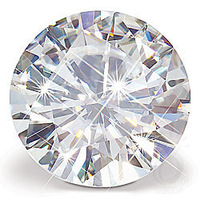 Forever Brilliant Moissanite Loose Stones Round Brilliant Cut 1ct 6.5mm Carat I-J With Black Card