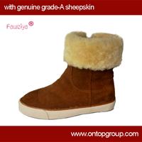 2014 warm winter fur children boots