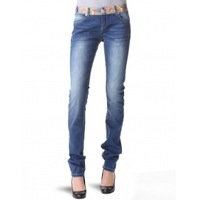 2013 new desigual women colorful waist elastic slim penci pants washed jeans 28 30 32 free shipping