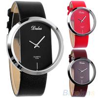 Lady Colorful Leather Transparent Dial U Pick Succinct Sport Watch Gift Wristwatch For Women Men Quartz Sale 00P4