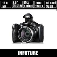 18.0 Mega Pixel DSLR digital camera 21 x  Intelligent Zoom and 3 inch screen long focus camera 720p video  Free Shipping dc-2000