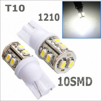 Wholesale 100pcs white T10 194 168 192 W5W 3528 smd 10 smd 10smd 10led super bright Auto led car lighting/t10 wedge led lamp,new