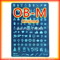 1Pc Retail OB-M Christmas Image Plate 21cm x 14.5cm Nail Art Stamping Designs Large Big For DIY Nails Polish Transfer Hot Sell