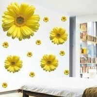 1set High Quality 3D Flower Sticker For Bedroom Decor & Big Chrysanthemum Flower Wall Stickers