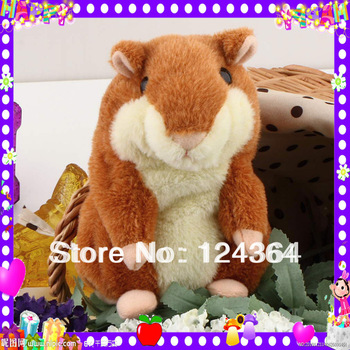 Free shipping 1Pcs Russia English Speaking Talking Hamster Plush Toy Sound Record Repeat Words Any Language hot sellingBrand New