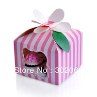 "Free shipping  ""I am Princess"" PVC window 4 cupcake boxes include of insert and tag (BF175)"