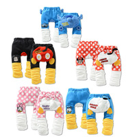 New 2013  Free Shipping Unisex Baby Girls Boys  Fleece PP Pants Thick Winter Cartoon kids/children pants clothing 15PCS/Lot