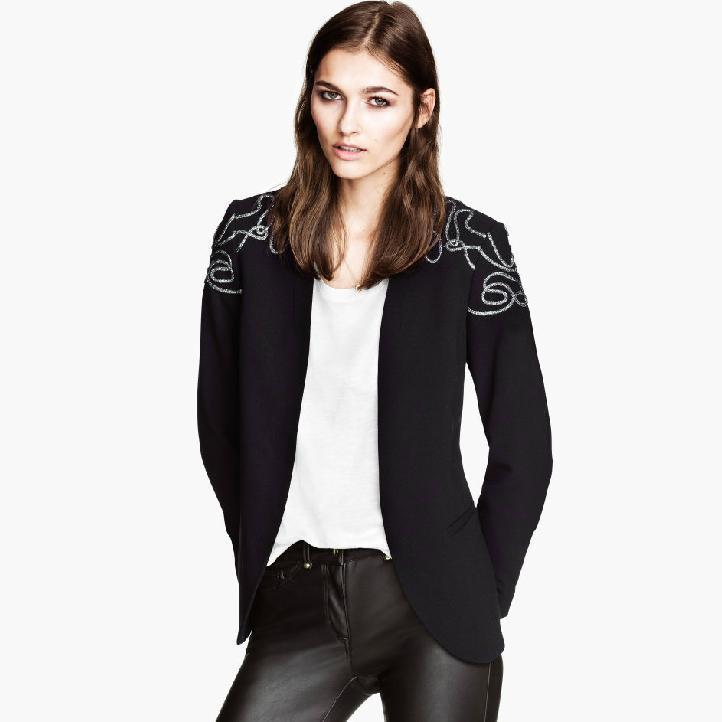 Blazer Shoulder Size Embroidery Blazer Shoulder