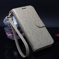 New High quality  Strawberry Wallet leather Case Cover For Samsung Galaxy S4 SIV i9500 Mobile Phone Accessories