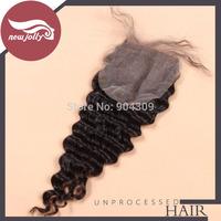 Natural wave brazilian virgin hair closure lace closure 4x4 free part lace base closure unprocessed human hair closure