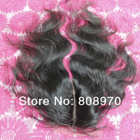 4*4 Silk base top Closure brazil virgin hair body wave natural 1b,free part centre part 3way parting 10 to 20 inch free shipping